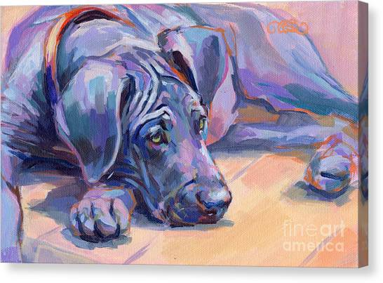 Great Danes Canvas Print - Sigh by Kimberly Santini