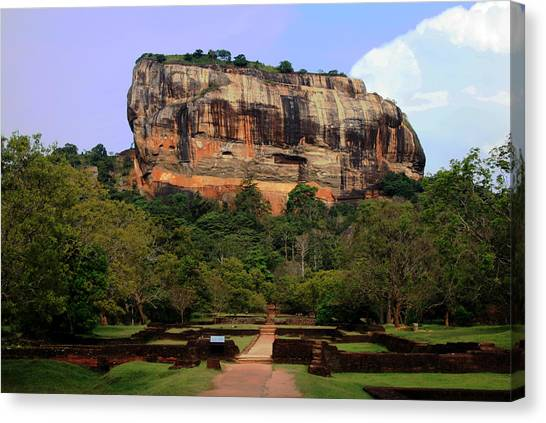 Sigiriya Fortress Canvas Print by Sanjeewa Marasinghe