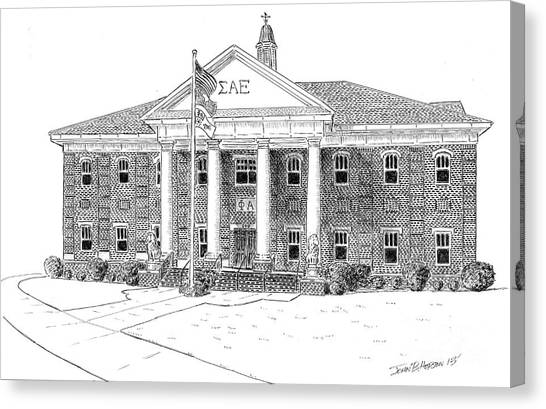 Sigma Alpha Epsilon House Canvas Print by John Hopson