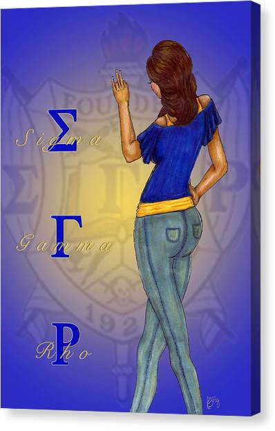 Sigma Gamma Rho Canvas Print - Sigma Gamma Rho by BFly Designs