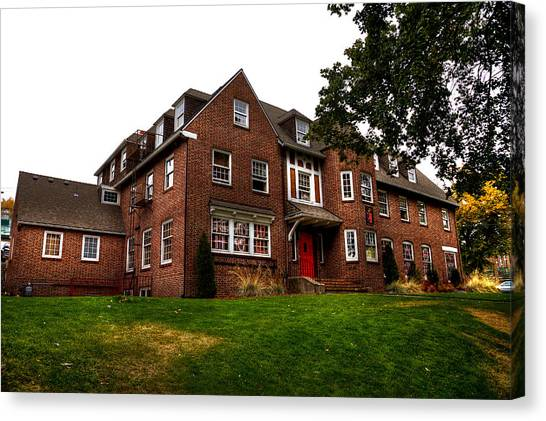 Sigma Phi Epsilon Canvas Print - Sigma Phi Epsilon Fraternity On The Wsu Campus by David Patterson