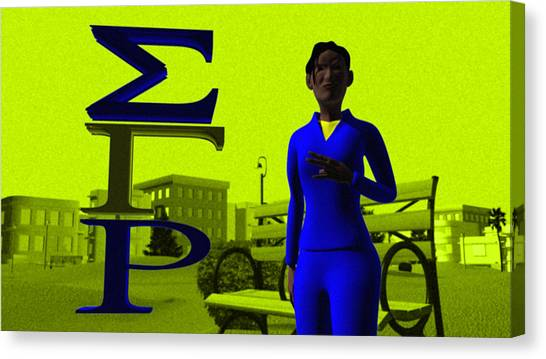 Sigma Gamma Rho Canvas Print - Sigma Sister by James Bowman