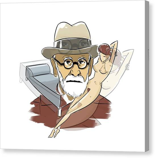 Unconscious Canvas Print - Sigmund Freud by Harald Ritsch