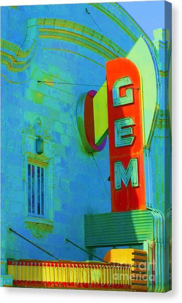 Sign - Gem Theater - Jazz District  Canvas Print