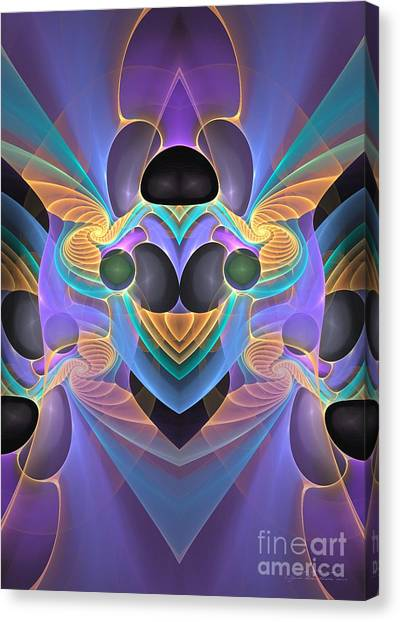 Canvas Print featuring the digital art Sign Of The Angel by Sipo Liimatainen