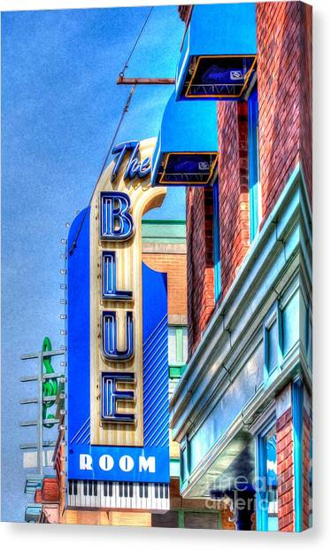 Sign - The Blue Room - Jazz District Canvas Print