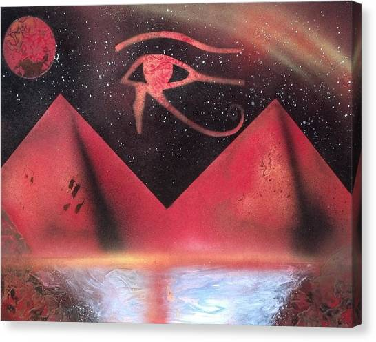 Wadjet Canvas Print - Sign The Of Eye Of Horus by Thomas Roteman