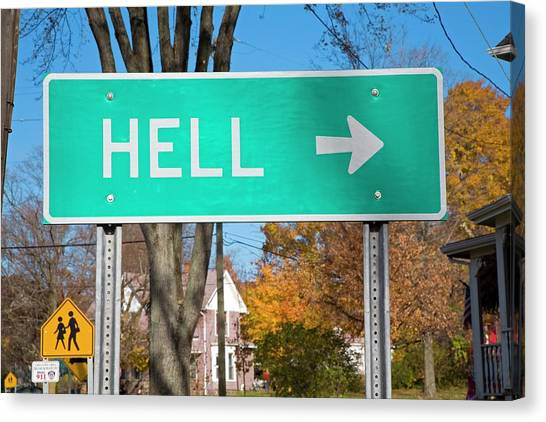 One Direction Canvas Print - Sign To Hell by Jim West