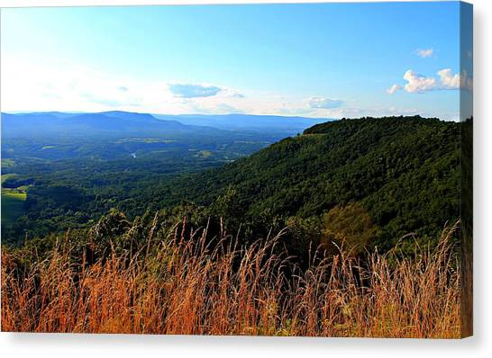 Canvas Print featuring the photograph Signal Knob Overlook by Candice Trimble