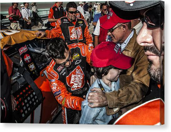 Tony Stewart Canvas Print - Signature   by Kevin Cable