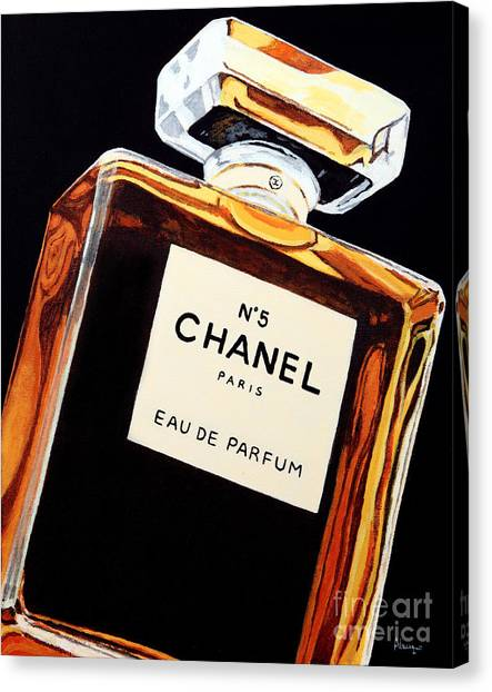 Chanel Canvas Print - Signature Scent by Alacoque Doyle