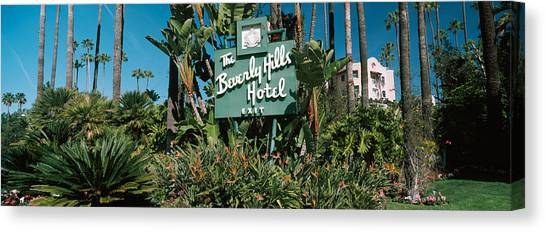 Beverly Hills Canvas Print - Signboard Of A Hotel, Beverly Hills by Panoramic Images