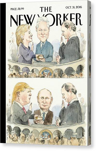 Bill Clinton Canvas Print - Significant Others by Barry Blitt