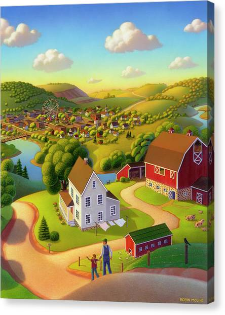 Rolling Hills Canvas Print - Signs And Wonders by Robin Moline