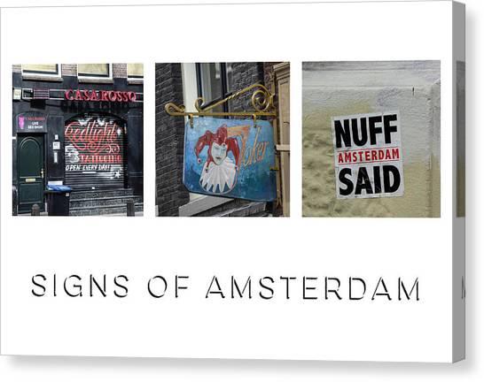 Sex Kitten Canvas Print - Signs Of Amsterdam by Teresa Mucha