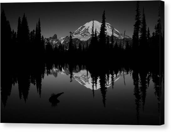 Beauty Mark Canvas Print - Sihlouette With Tipsoo by Mark Kiver