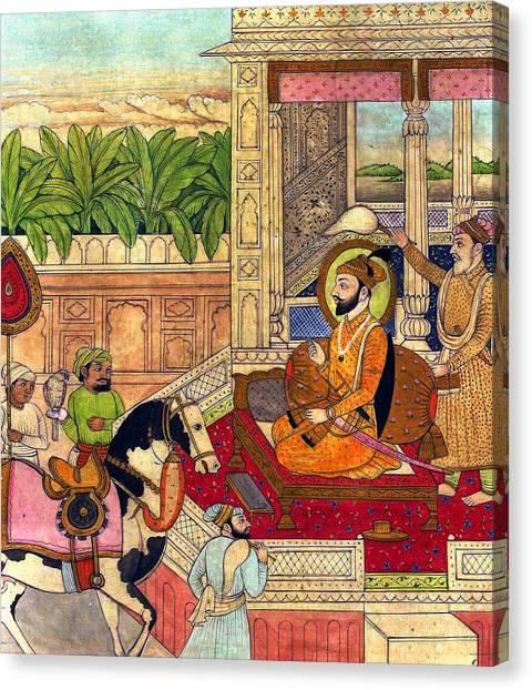 Sikh Art Canvas Print - Sikh Guru by Munir Alawi