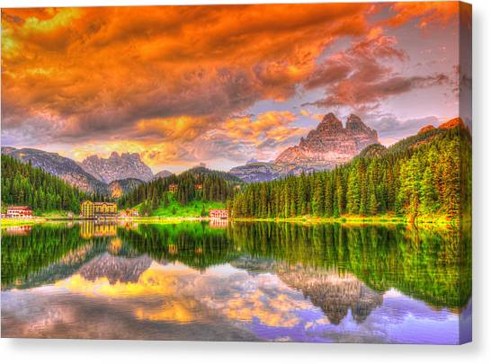 Dolomites Canvas Print - Silence Of Dusk by Midori Chan