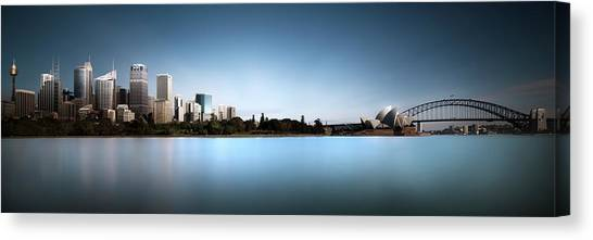 Silence Of Ms. Macquarie's Skyline Canvas Print by Dr. Akira Takaue