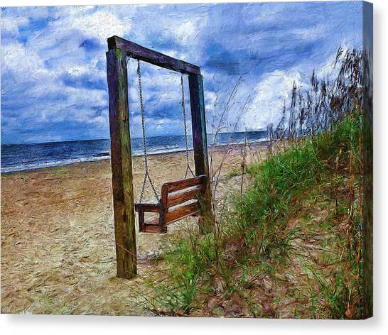 Silence Of The Waves Canvas Print by Cary Shapiro