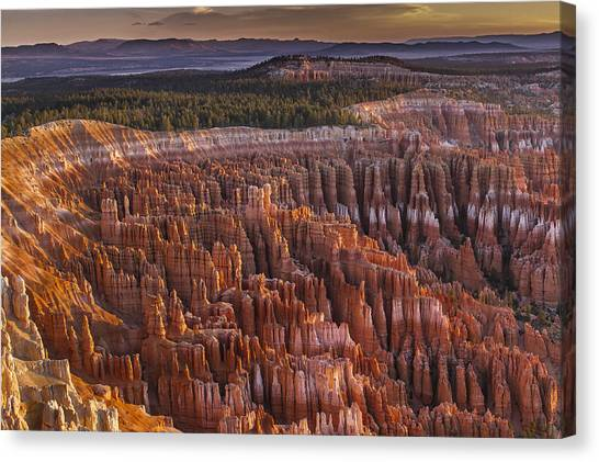 City Sunrises Canvas Print - Silent City - Bryce Canyon by Eduard Moldoveanu