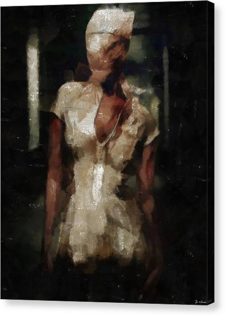 Silent Hill Nurse Canvas Print