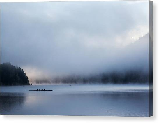 Silent Morning Canvas Print by Uschi Hermann