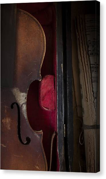 Stringed Instruments Canvas Print - Silent Sonata by Amy Weiss