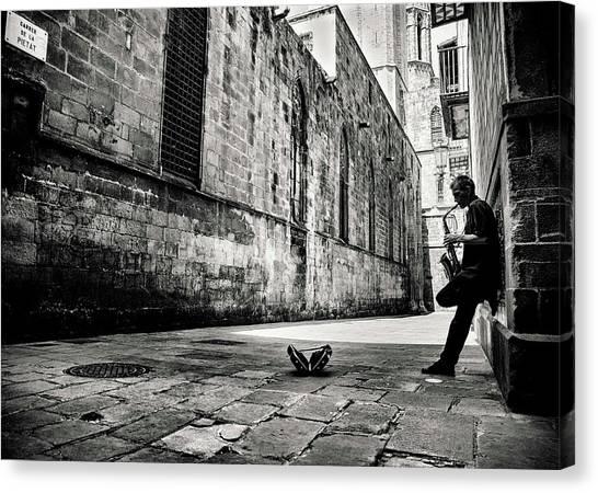 Saxophones Canvas Print - Silent Street by Gertjan Van Geerenstein