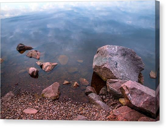 Jenny Lake Canvas Print - Silent Waters. Ladoga Lake by Jenny Rainbow