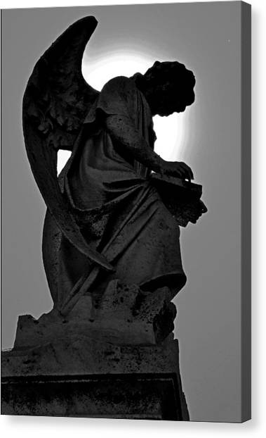 Silhoutte Angel Canvas Print
