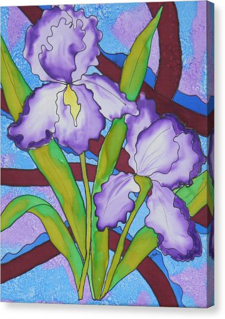 Silk Iris Canvas Print