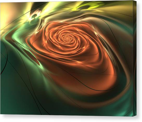 Silk Rose Canvas Print