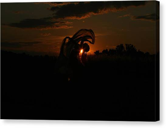 Silk Sunset Canvas Print
