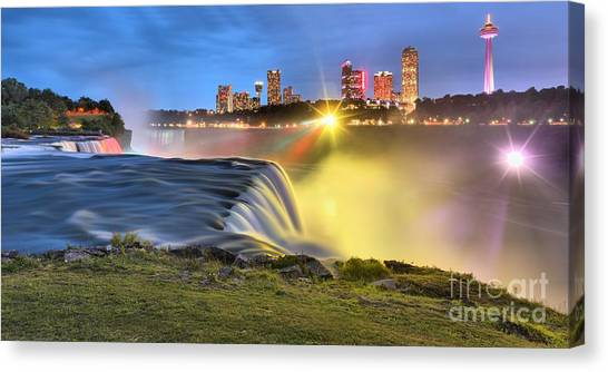 Silky Niagara Falls Panoramic Sunset Canvas Print