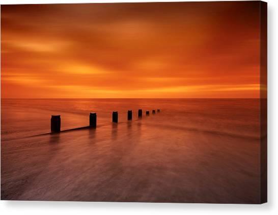 Silky Sunrise Canvas Print by Mark Leader