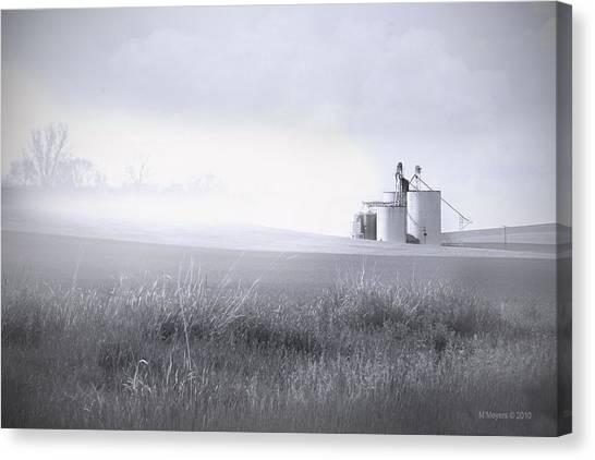 Silo Mist Canvas Print by Melisa Meyers