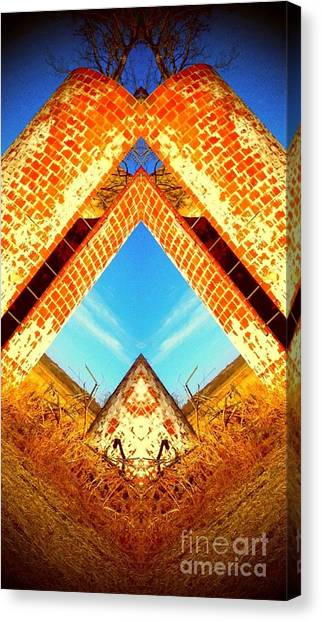 Silo Pyramid Canvas Print