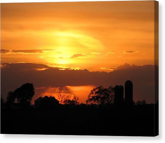 Silo Sunset Canvas Print