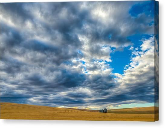 Silo Under Big Palouse Sky Canvas Print by Chris McKenna