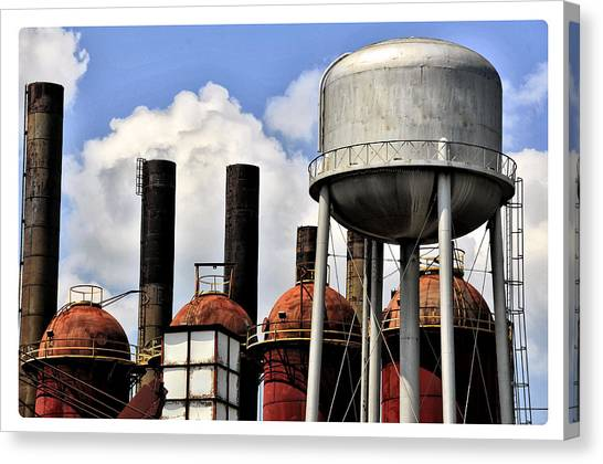 Silos In The Sky Canvas Print