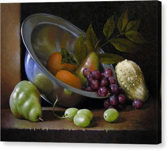 Silver Bowl Canvas Print by Timothy Jones