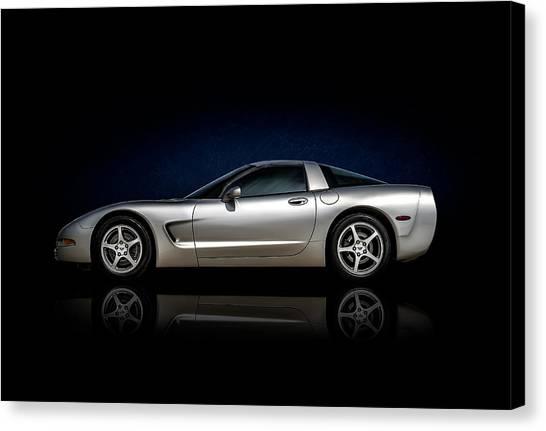 Chevy Canvas Print - Silver C5 by Douglas Pittman