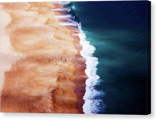 Silver Coast Canvas Print by Cbomersphotography