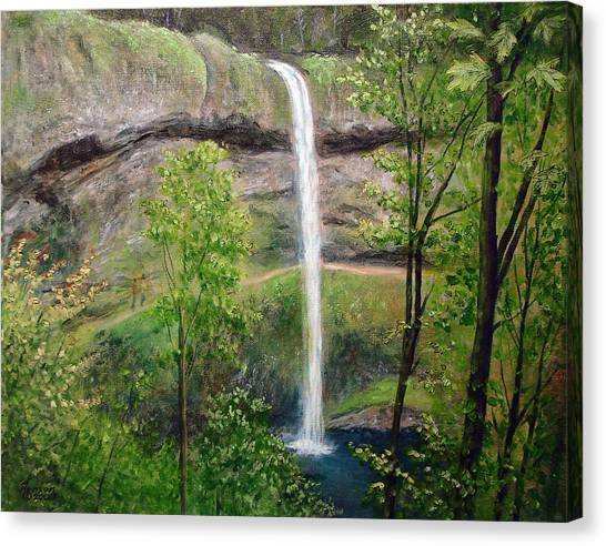 Silver Creek Falls Canvas Print