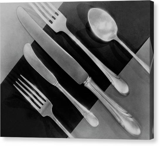 Silver Cutlery By Symphony By Towle Canvas Print
