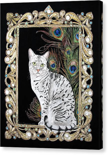 Silver Egyptian Mau Canvas Print