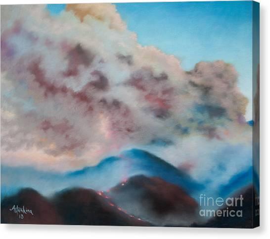 Silver Fire Canvas Print