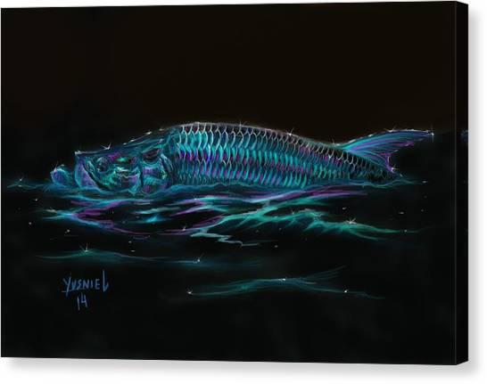 Fish Tanks Canvas Print - Silver Flash by Yusniel Santos