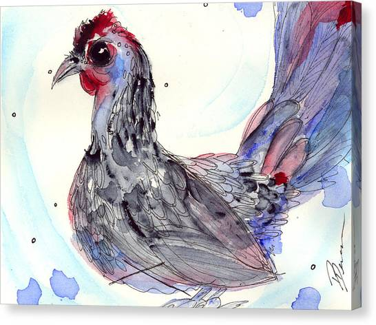 Silver Hen Canvas Print